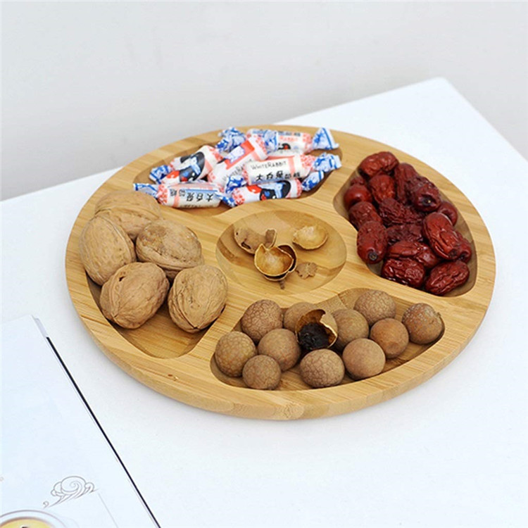 Cheap round wooden serving platters and trays 3