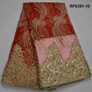 3D Beaded Embroidery Lace Dress Fabric African Wax French Net Africa 2018 new design net lace