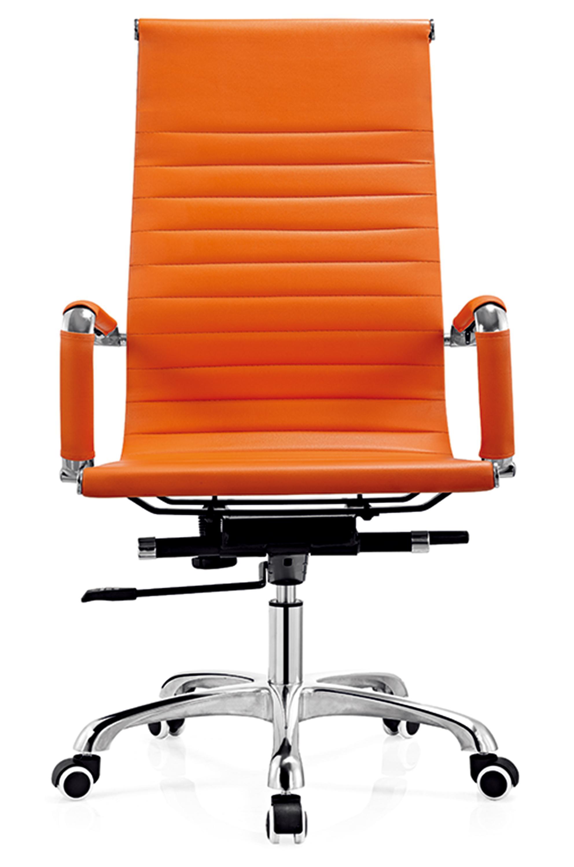 Picture of: D818 High Back Orange Leather Ergonomic Executive 360 Swivel Bride Office Chair Buy Bride Office Chair Rustic Leather Office Chair Executive Ripple Black Leather Office Chair Product On Alibaba Com