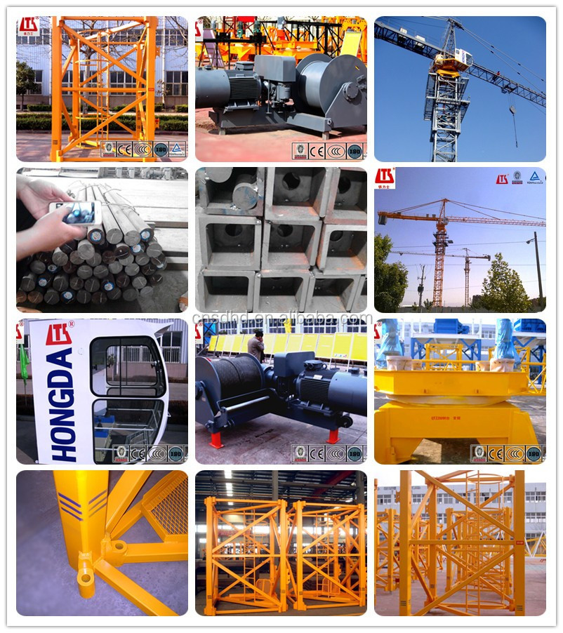 QTZ200 QTZ300 Hydraulic Self-hoisting Tower Crane