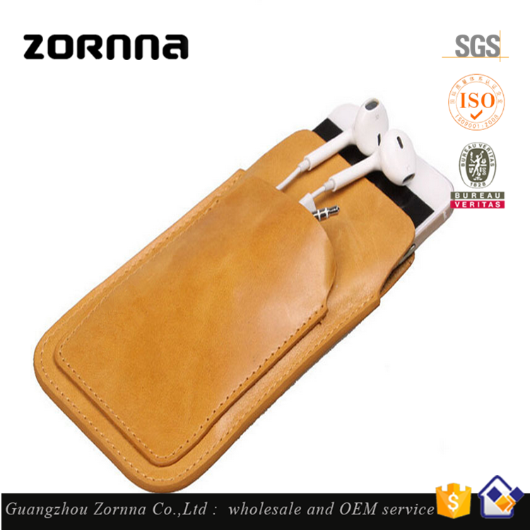 Hot Selling Genuine Leather Wallet Phone Case