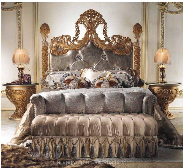 Luxury royal dark brown wooden leather headboard king for Royal headboard