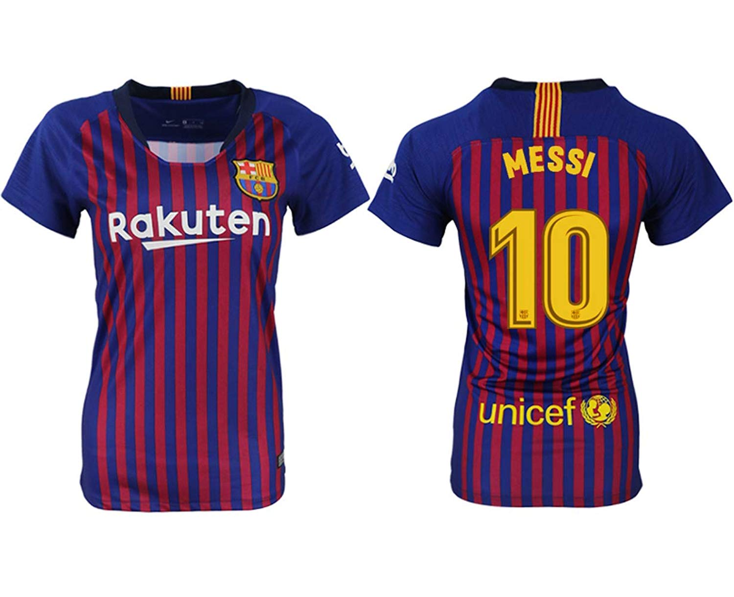Get Quotations · Fun jersey Messi  10 Barcelona 2018-2019 Home Women s  Soccer Uniforms 3267101c07