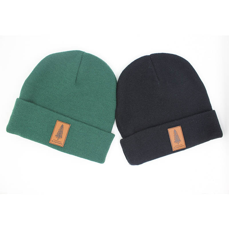 Custom Wholesale Leather Patch Beanies 3dabe027084