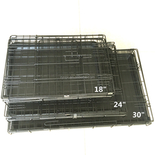 24/30/36/42/48 Pet Animal Kennel Cat Dog Crate Travel Folding Cage 2 Door W Tray