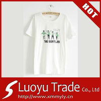 Custom white t shirt print own .logo