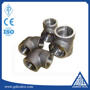 3000lb A105 carbon steel 90 degree socket weld forged pipe fittings elbow