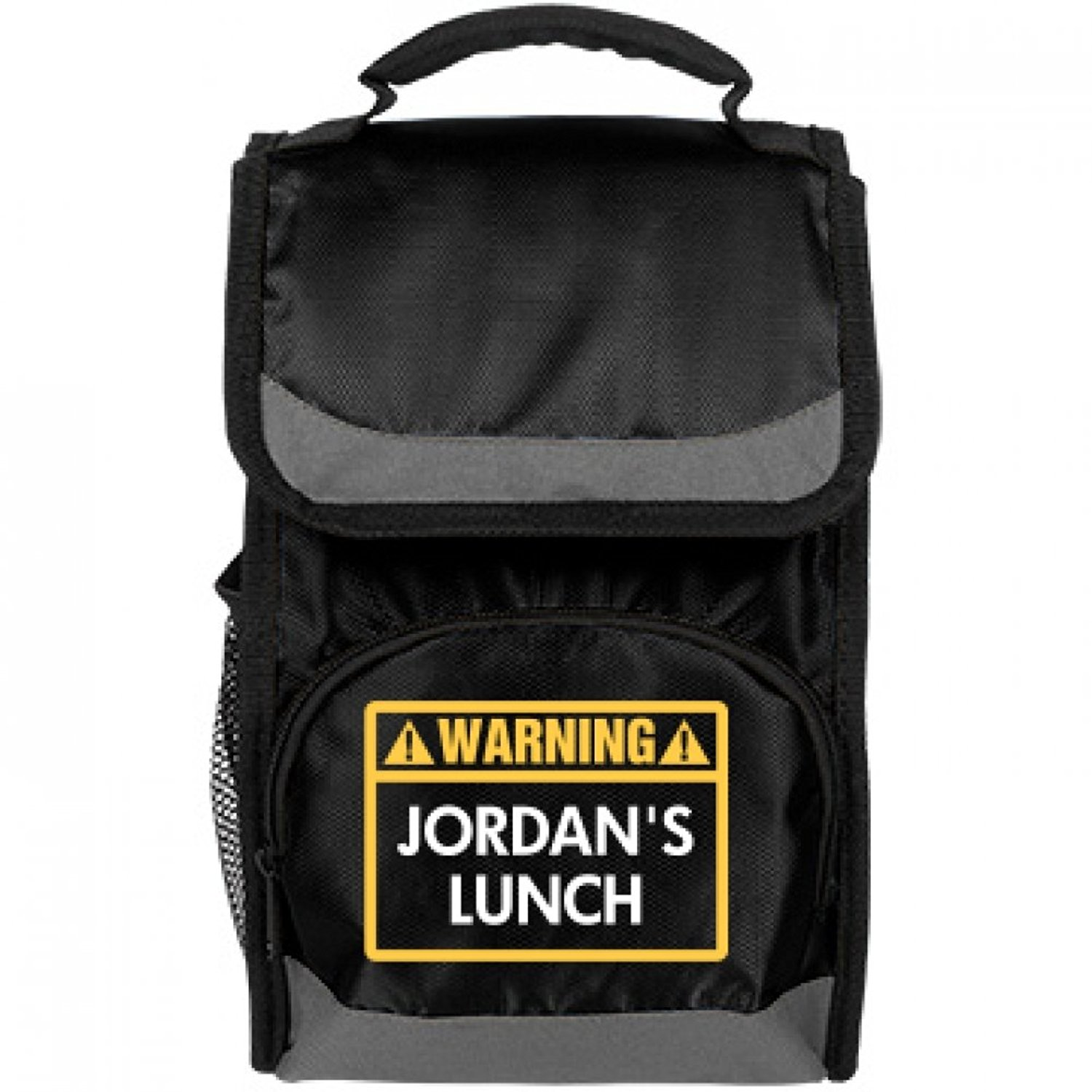 6558513161b2cb Get Quotations · Funny Warning Jordan s Lunch Bag  Port Authority Flap Lunch  Cooler Bag