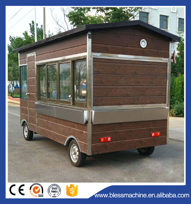 Multi functional wide output range Long working life food truck bus/food truck vintage exhibited at Canton fair