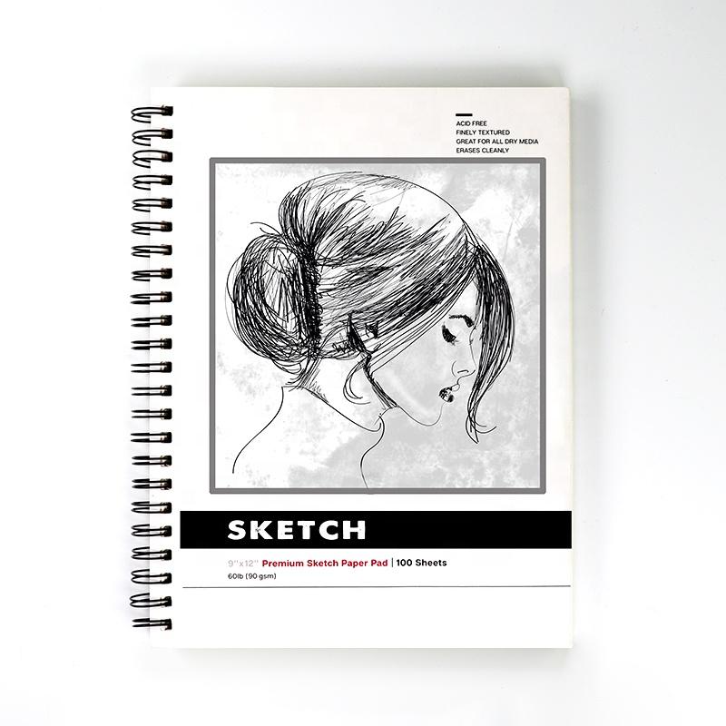 Set Of 15 GRADED ART SKETCHING PENCILS A4 Artist Sketch Drawing Book Pad 70gsm