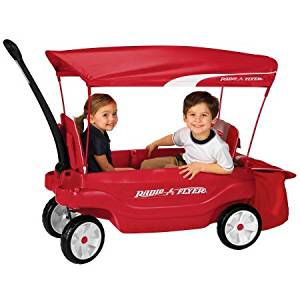 "Radio Flyer Ultimate Comfort Canopy Wagon Dimensions: 42""L x 18.8""W x 13.8""H"