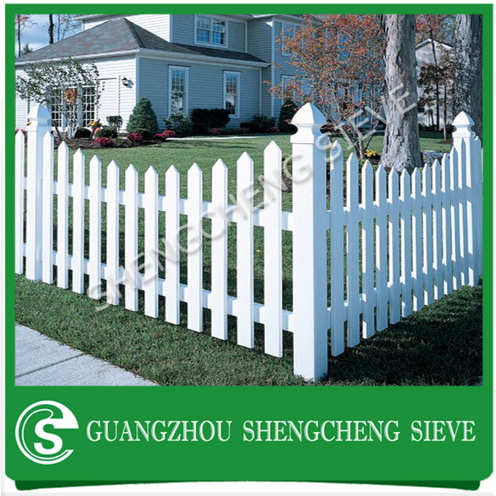Easily assembled plastic temporary picket fence decorative grey scalloped vinyl fence