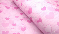 Romance Pink Heart Shape Craft Wrapping Paper