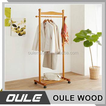 Furniture Stock Wooden Dressing Valet Organizer Free Standing Coat Rack