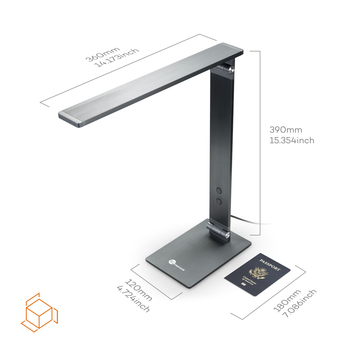 TaoTronics Metal LED Desk Lamp, 100% Premium Metal Body, Touch-Sensitive Control, 4 Light Modes Glare-Free, Adjustable Arm