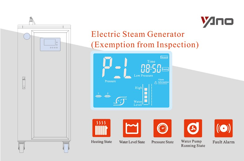Small Industrial Steam 8.6-43kg/h Volume Less Than 30Litres 6-30KW Electrical Boilers