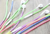 plastic spring tube necklace decorative earphone