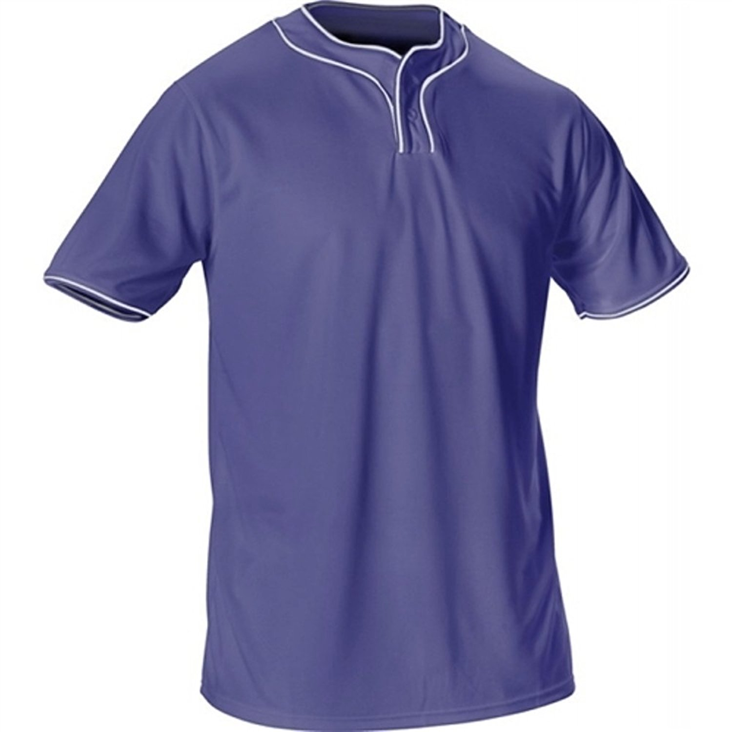 ALLESON Extreme Microfiber 2-Button Baseball Jersey - 506THY- Adult XX-Large (XXL) - Navy Blue/White