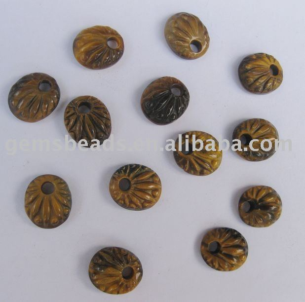 wholesale tiger eye semi precious stone embossed pendant