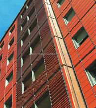 2014 hot sale terracotta tile terracotta panels ventilated facade wood HOSPITAL projects: terracotta cladding panel