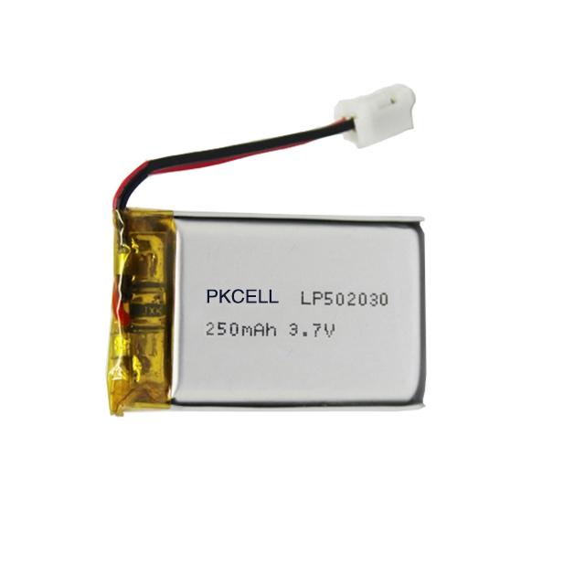 603040 batería de lipo de 3,7 v 750mah batería de polímero de litio 603040 con PCM... JST-PH-2P conector bluetooth