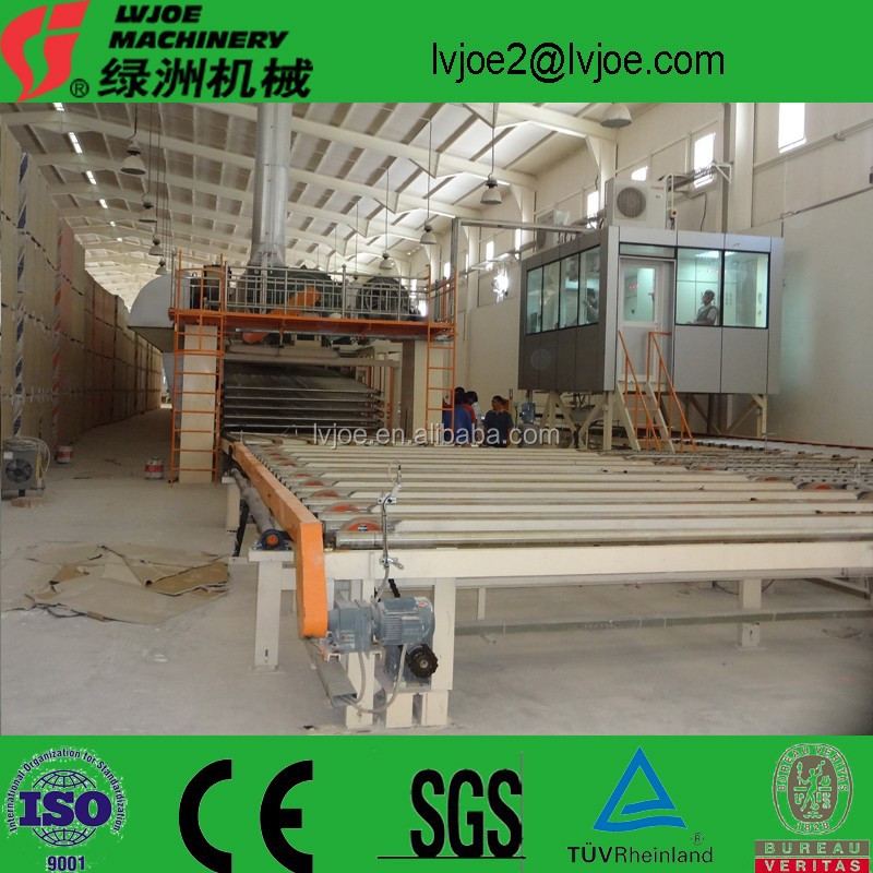 equipment for productions light weight gypsum boards