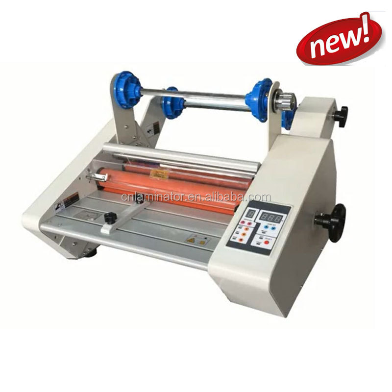 FM-360F A3 340mm roll laminator with rewind,foil fusing hot laminator