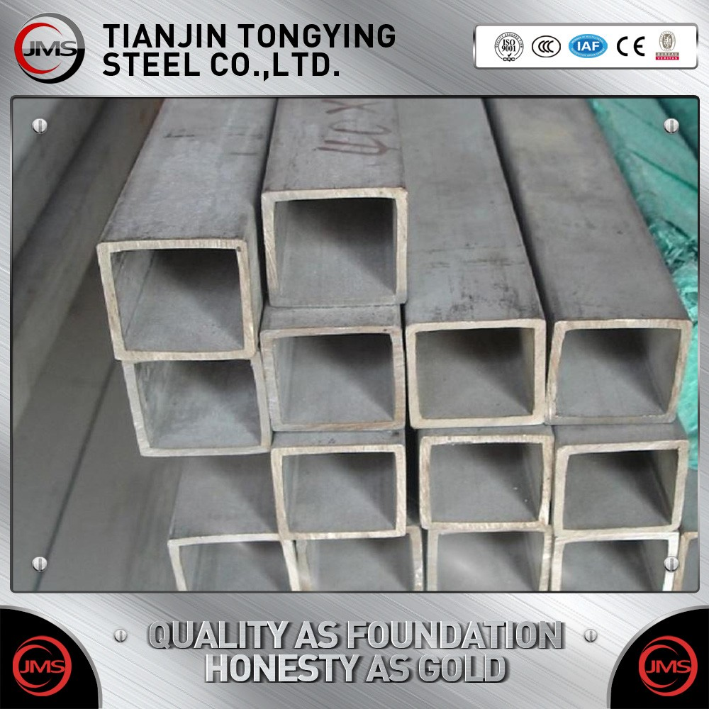 China factory 34mm seamless galvanized square/ rectangular black ERW steel pipe, steel tube