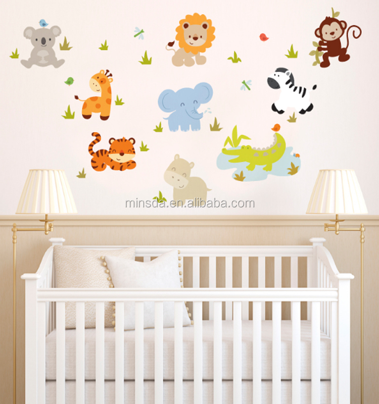 Cute And Fun Modern Baby Wall Stickers For Nursery Room Kid Printed Wall Decals