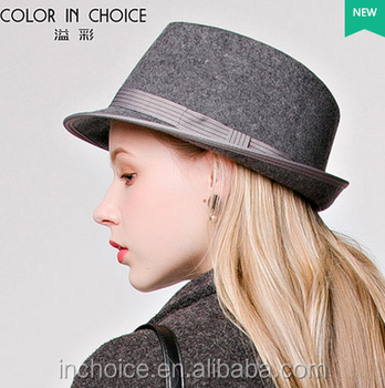 Fashion Women Lady Wool Felt Trilby Snap Brim Fedora Hat - Buy ... 148948e2453