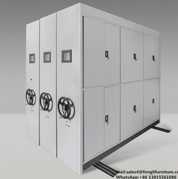 Metal Movable Storage Rack Mobile Filing Cabinet
