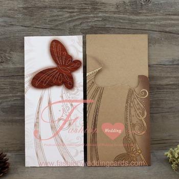 Wooden Wedding Invitation Card