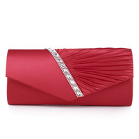Fashion Women's Evening Bags Handbag for Elegant Women Lady New Style Satin Crystal Clutch Evening Clutch Bags