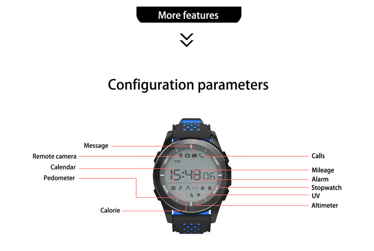 F3 Smart Watch Pedometer Wristband Wearable Device Smartwatch Waterproof IP68 Swimming Sport Watch