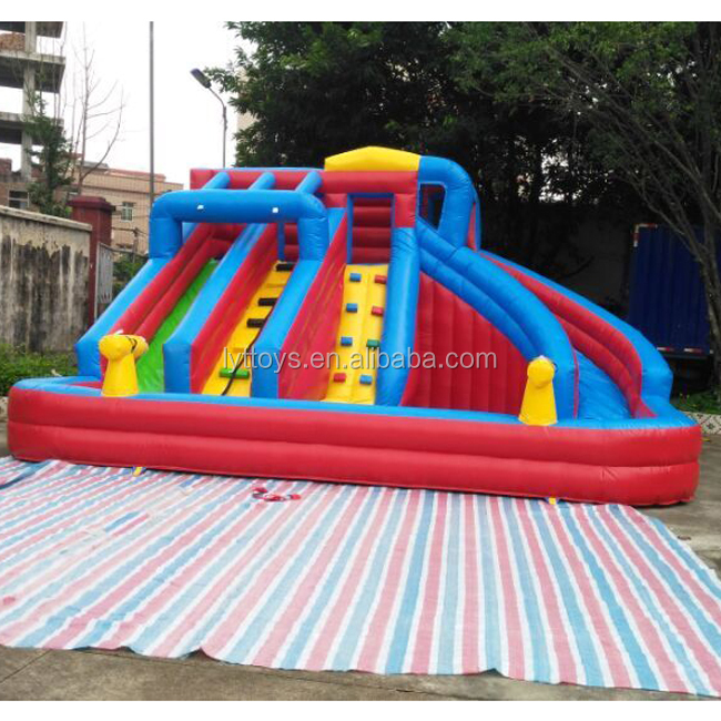 Colorful rainbow giant inflatable water slide for sale,inflatable stair slide,inflatable dry slide