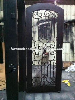 Dise os de puertas de hierro forjado puerta de aluminio for Puertas dobles de hierro antiguas