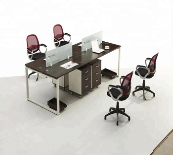 Double Sided Office Desk Gl Parions With Drawers
