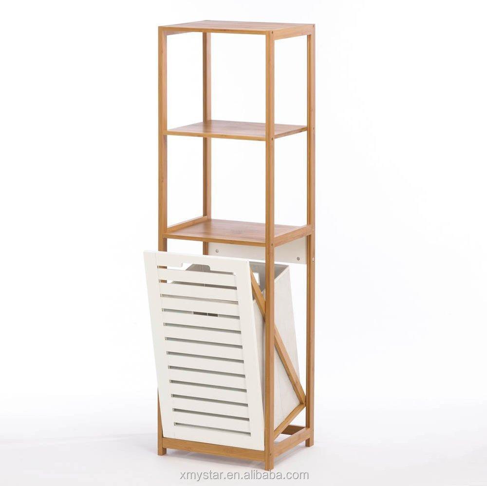 Bamboe Badkamer Opbergrek Met Ingebouwde Kleren Wasmand - Buy Bamboe ...