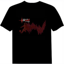Hot sale el flashing t shirt / sound activated t shirt / led t shirt wholesale