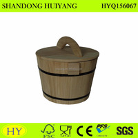 unfinished wood rice bucket for storage