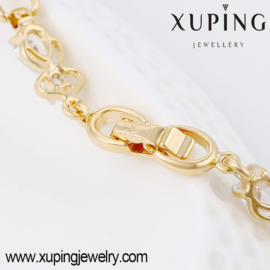 74275 New Fashion Beautiful Bracelet Designs,Cheap Wholesale Gold Plated CZ Bracelets
