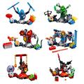 LEPIN 6 PCS lot NEXU KNIGHTS Building Blocks Set Plastic Bricks Toys Minifigures for Children Compatible
