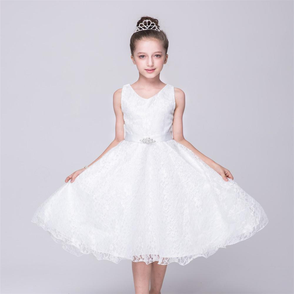 Summer Girl Princess Party Dress Red Wedding Gowns Formal Birthday ...