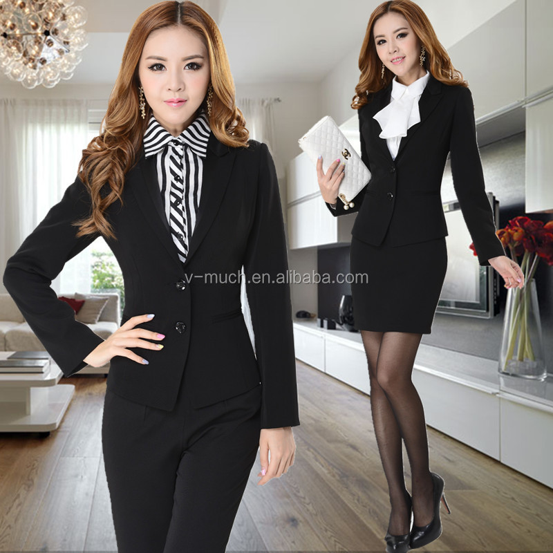 2014 latest design professional lady suitsoffice suits