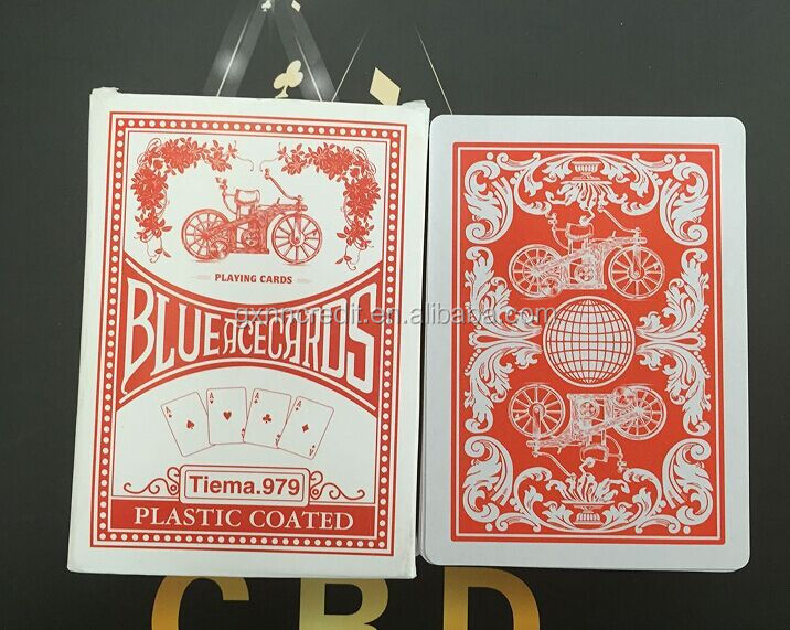 280g Wholesale 555 playing cards with company logo