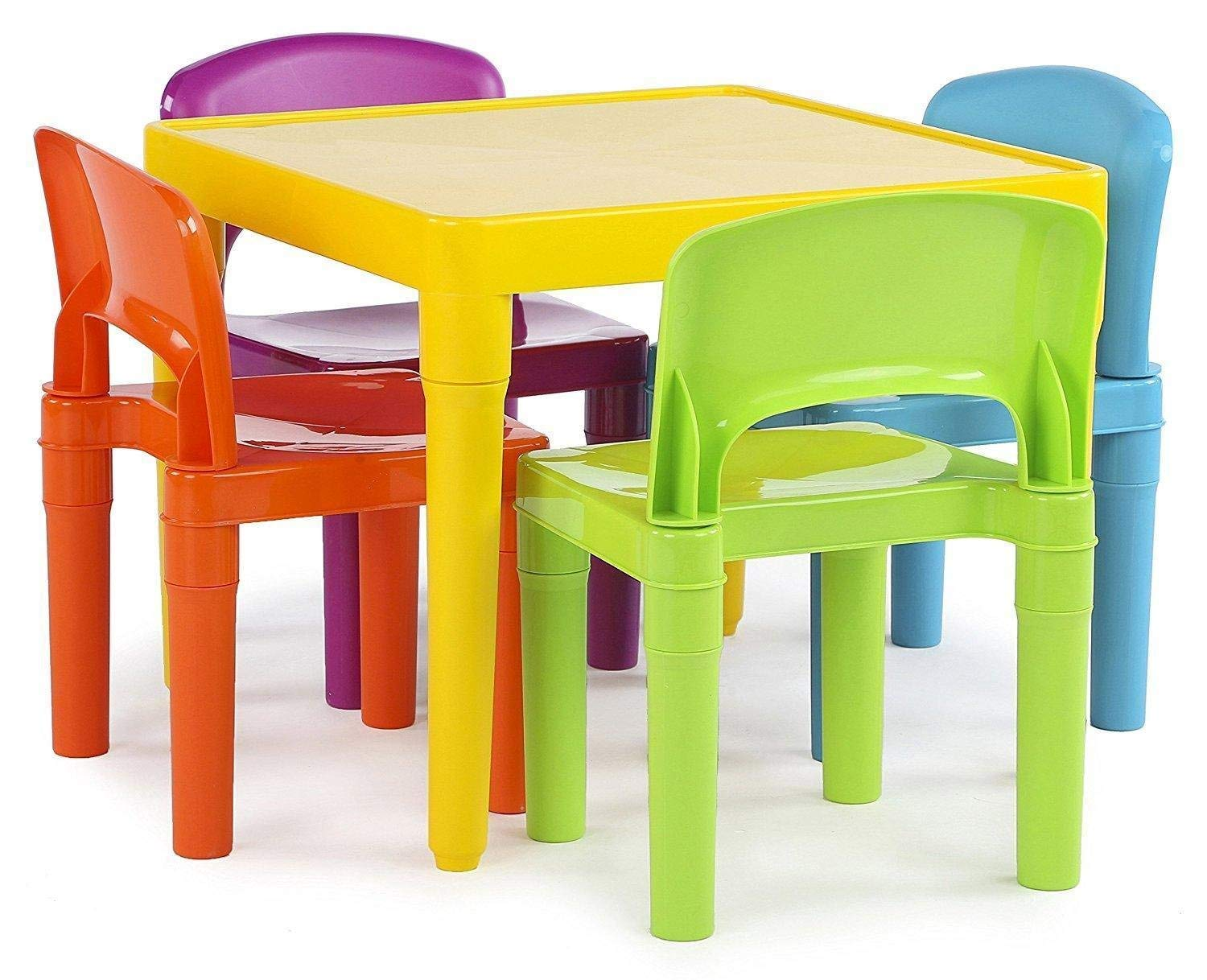 Generic Chai Set Multicolor Set Square Play color S Back Stool Seat Desk Mid Back Sto Kids Table Chairs Stool Se Desk Mid
