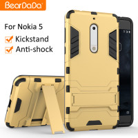 Best Quality Shockproof kickstand TPU PC for nokia 5 case back cover
