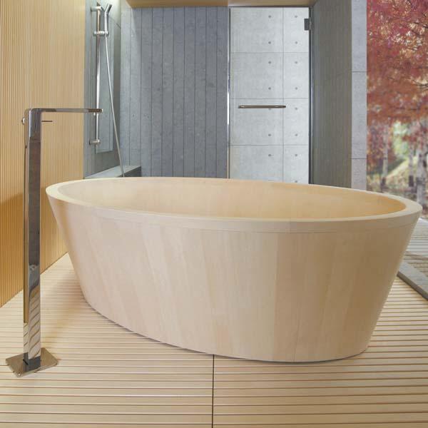 holz moderne badewanne o- bad- d( japanisch zeitgenössischen stil, Hause ideen