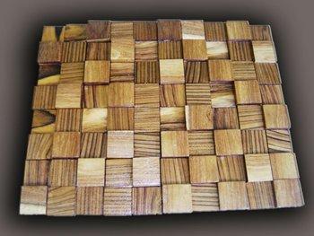 Teak legno mattonelle di mosaico buy piastrelle di legno mosaico