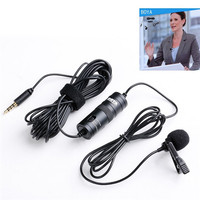 3.5mm Radio Wired BY-M1 Condenser Microphone for DSLR Camera Camcorder Smartphone Lavalier Boya